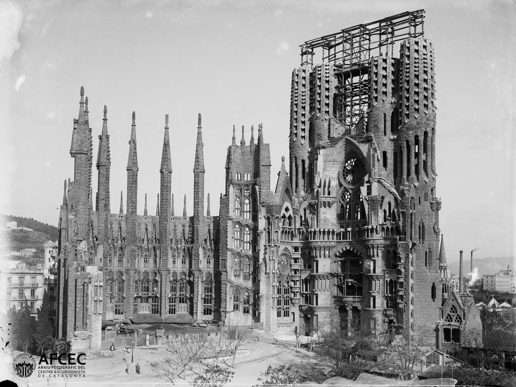 Temple de la Sagrada Família, Barcelona,1915-1920. Autor Josep Maria Co i de Triola.